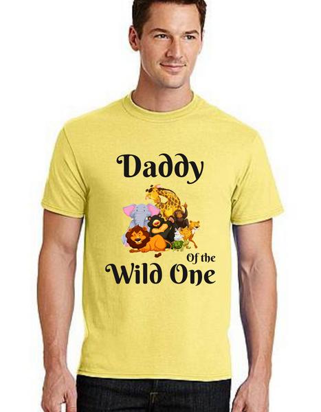 Dad of the birthday Girl Tshirt Wild One theme  for Dad Life,Dad of birthday Princess Tshirt T-Shirt Short Sleeve Men Summer tshirts