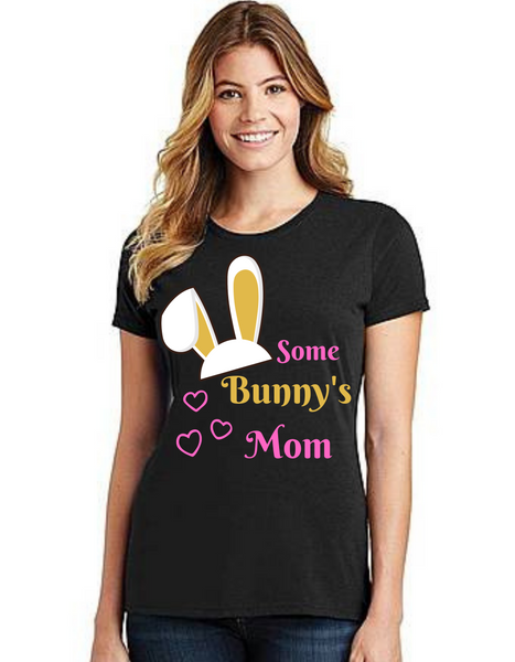Mommy of the Birthday Girl Some Bunny theme, Tshirts Mom Life T-Shirt Short Sleeve Summer Mommy Tshirts