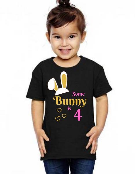 Roma Birthday GIRL tshirt for Bunny theme  kids Tshirt, bday tshirts,girls tshists