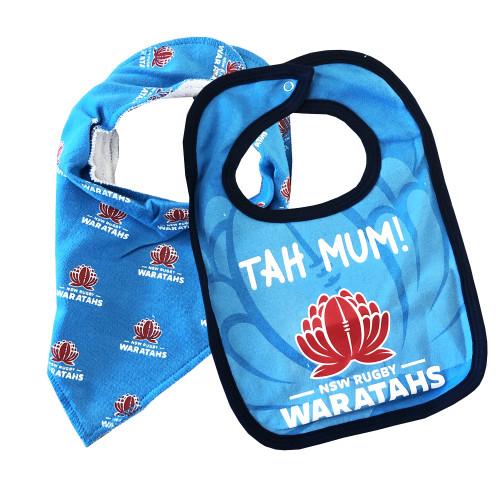 NSW Waratahs Babies 2 Piece Bib Set