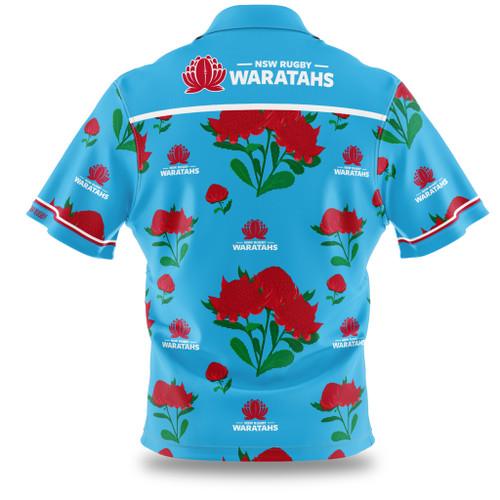 NSW Waratahs Adults Hawaiian Shirt