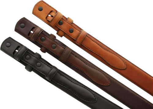 """5547500 Oil-Tanned Genuine Leather Ranger Belt Strap 1-3/8""""(35mm) Taper to 3/4""""(19mm) Wide"""
