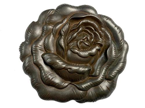 """HA0064 Antique Copper Engraved Rose Belt Buckle Fits 1-1/2""""(38mm) Belt"""