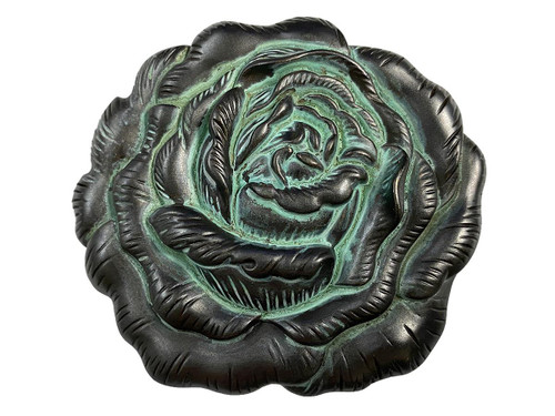 """HA0064 Antique Copper Patina Engraved Rose Belt Buckle Fits 1-1/2""""(38mm) Belt"""