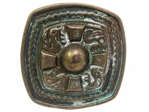 HA0141 Vintage Celtic Cross Antique brass Patina Finish Belt Buckle