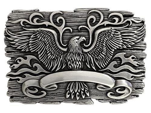 Unique Buckle Antique Engraved Eagle Crest Engraved Buckle