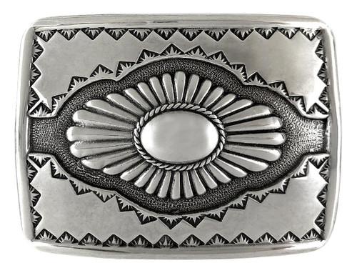 American Southwest Design Antique Silver Western Belt Buckle