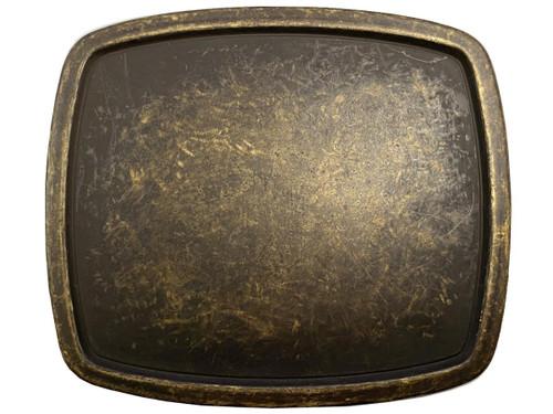 "Vintage Blank Plain Buckle Rectangular Belt Buckle Fits 1-1/2""(38mm) Belt Strap (Antique Brass)"