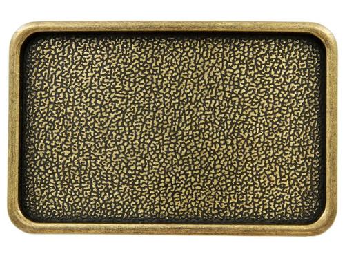 """Rectangular Plain Plaque Blank Plain Buckle Belt Buckle Fits 1-1/2"""" (38mm) Wide Belt-Antique Brass"""