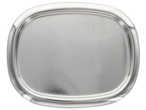 "Raised Edge Blank Plain Buckle Belt Buckle Fits 1-1/2""(38mm) Wide Belt-Bright Silver"