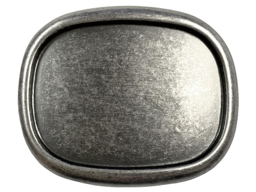 "Raised Edge Blank Plain Buckle Belt Buckle Fits 1-1/2""(38mm) Wide Belt-Antique Silver"