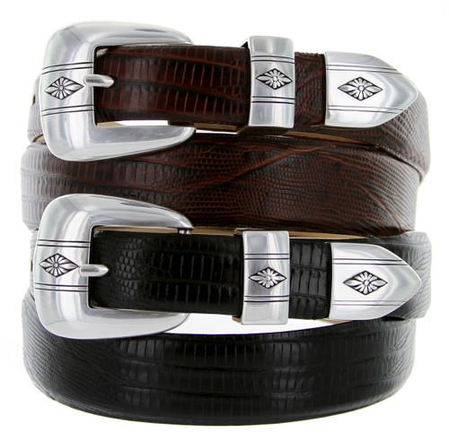 Silver Diamond Italian Calfskin Genuine Leather Designer Golf Dress Belt