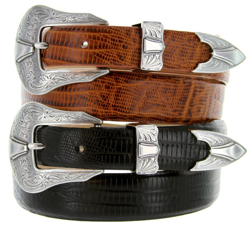 Colorado Silver Italian Calfskin Genuine Leather Designer Dress Belt