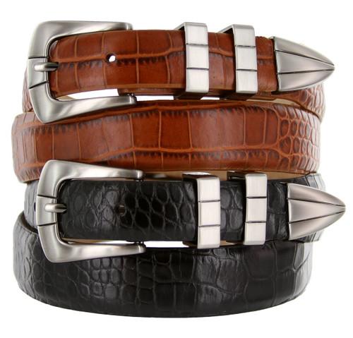 California Italian Calfskin Genuine Leather Designer Golf Dress Belt