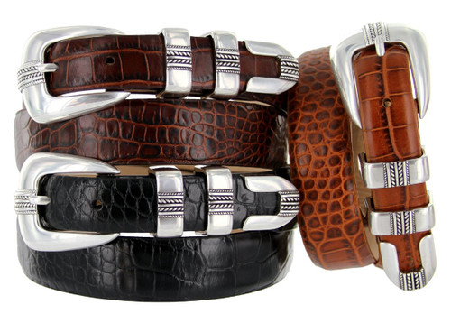 Norris Italian Calfskin Genuine Leather Designer Dress Belt