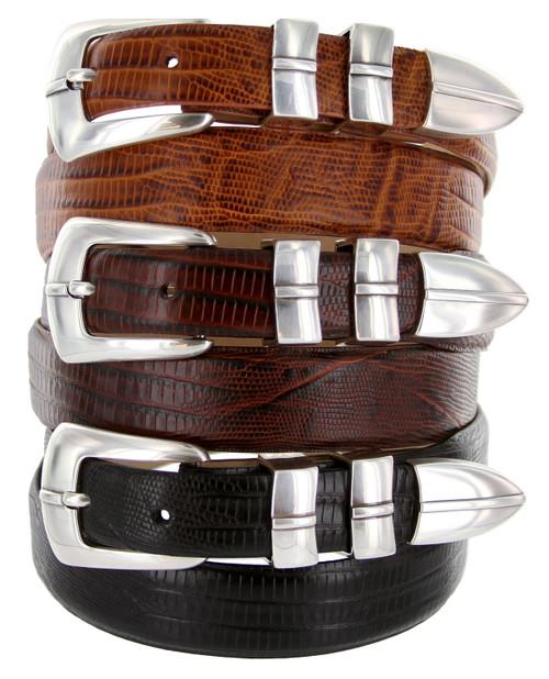 Marin Silver Italian Calfskin Genuine Leather Designer Golf Dress Belt