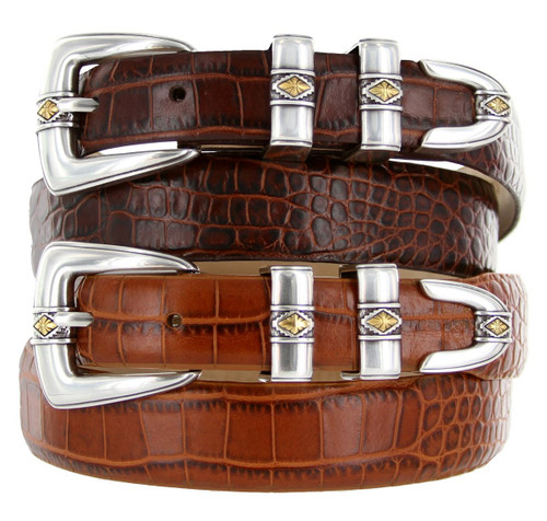 Aiden Italian Calfskin Genuine Leather Designer Dress Belt
