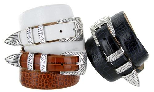 Nevada Italian Calfskin Genuine Leather Designer Dress Belt