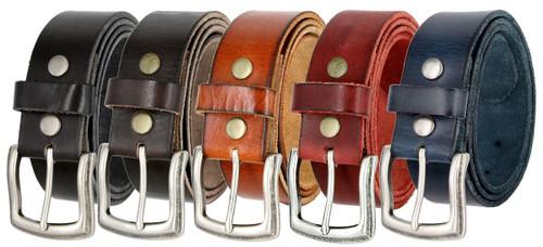 "Vintage Antique Engraved Buckle Genuine Full Grain Leather Casual Jean Belt 1-1/2""(38mm) Wide"