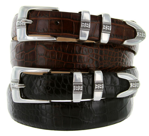 Miller Men's Belt Italian Calfskin Genuine Leather Designer Dress Belt