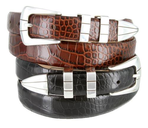 Vince Men's Belt Italian Calfskin Genuine Leather Designer Dress Belt