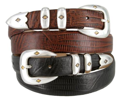 Tuscon Gold Men's Italian Calfskin Genuine Leather Designer Dress Belt