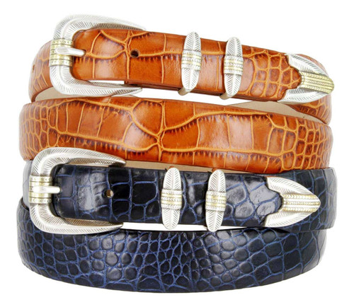 Manila Italian Calfskin Genuine Leather Designer Golf Dress Belt