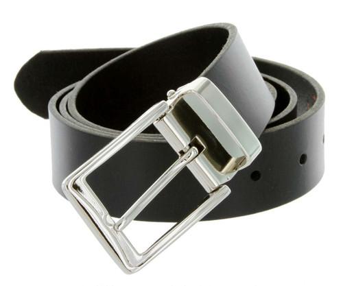 "A53035 Classic Casual Dress Buckle Genuine Full Grain Leather Belt 1-3/8""(35mm) Wide"