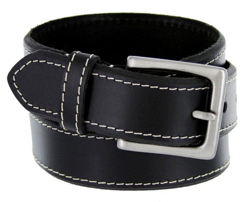 """BS1801 Classic Office Career Genuine Leather Casual Dress Belt 1-3/8""""(35mm) Wide"""