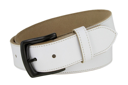 """Classic Engraved Buckle Genuine Cowhide Full Leather Belt Strap 1-1/2""""(38mm) Wide"""