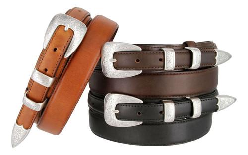 S5527 Antique Western Buckle Belt Oil Tanned Genuine Leather Ranger Belt