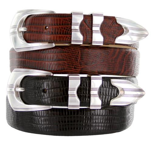 "Ventura Italian Calfskin Genuine Leather Designer Golf Dress Belt 1-1/8""(30mm) Wide"