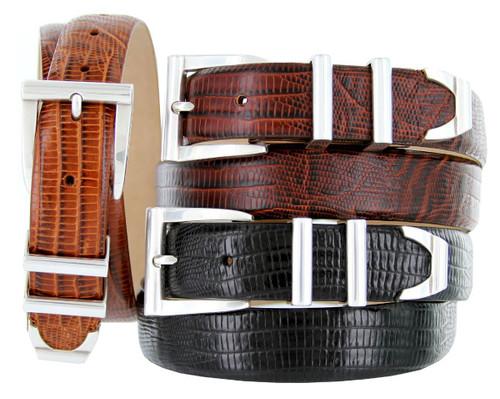 "5998 Italian Calfskin Genuine Leather Designer Golf Dress Belt 1-1/8""(30mm) Wide"