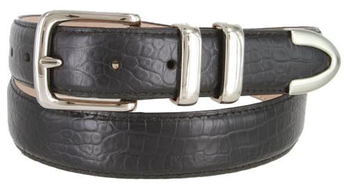 "8650 Italian Calfskin Genuine Leather Designer Golf Dress Belt 1-1/4""(32mm) Wide"