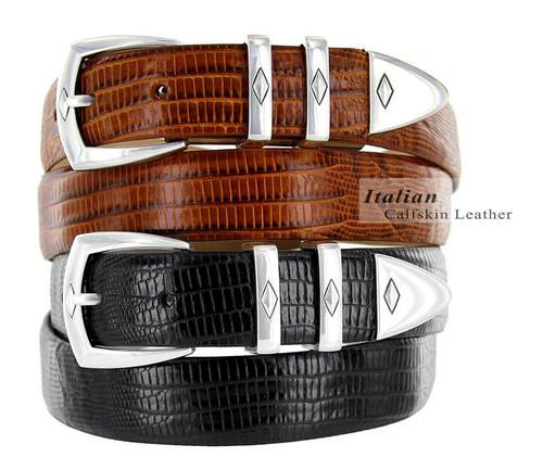"Canyon Italian Calfskin Genuine Leather Designer Golf Dress Belt 1-1/8""(30mm) Wide"