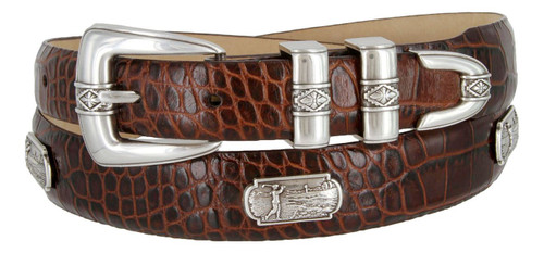 Palm Springs Golf Leather Belt Italian Calfskin Genuine Leather Designer Dress Conchos Belt