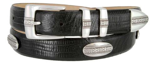 "Scarsdale Classic Italian Calfskin Genuine Leather Designer Dress Golf Conchos Belt 1-1/8""(30mm) Wide"