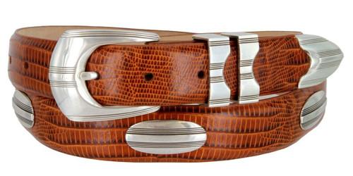 "81208143 Italian Calfskin Genuine Leather Designer Dress Golf Belt 1-1/8""(30mm) Wide"