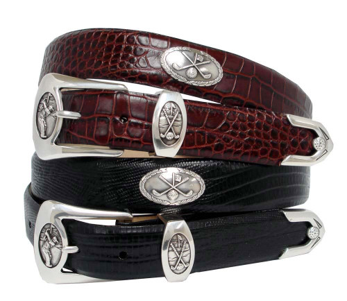 "BC3109 Italian Calfskin Genuine Leather Designer Dress Golf Belt 1-1/8""(30mm) Wide"