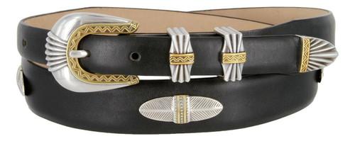 55448202 Italian Calfskin Genuine Leather Designer Dress Golf Concho Belt