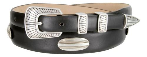 Bisby Italian Calfskin Genuine Leather Designer Dress Golf Concho Belt
