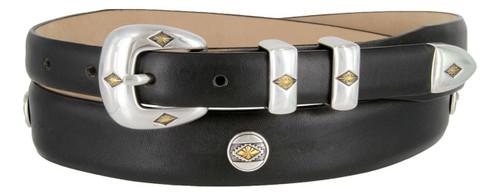 Parkhurst Italian Calfskin Genuine Leather Designer Dress Golf Concho Belt