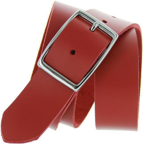"Made in USA Belt Solid Brass Buckle 100% Genuine Full Grain Leather Belt 1-1/2""(38mm) Wide"
