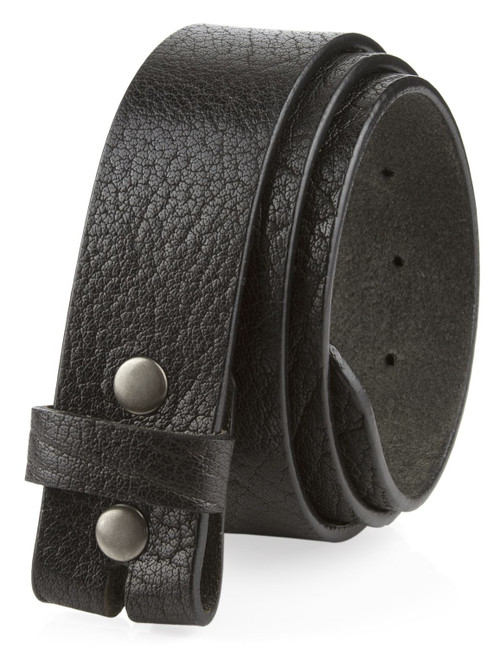 """Genuine Full Grain Leather Belt Strap with Snaps on 1-1/2""""(38mm) Wide Made in U.S.A"""