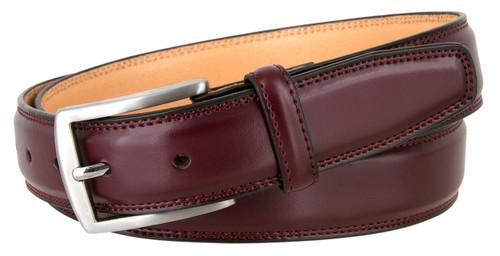 """321015 Men's Dress Belt Smooth Genuine Leather Belt 1-1/4""""(32mm) Wide"""