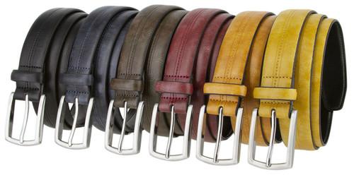 """327251 Men's Dress Belt Vintage Style Genuine Leather Belt 1-1/8""""(30mm) Wide"""
