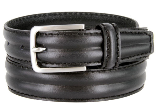 """S067-30 Made in Italy Belts Genuine Leather Casual Dress Belt 1-1/8""""(30mm) Wide Belt"""