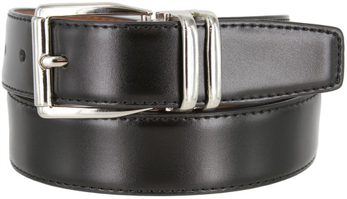"4010D-160502 Reversible Belt Genuine Leather Dress Casual Belt 1-1/8""(30mm) wide (Black/Tan)"