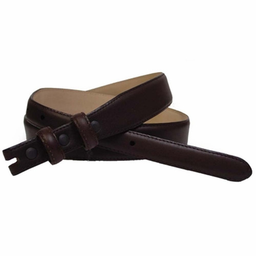 """19/29 Italian Calfskin Genuine Leather Dress Belt Strap with Snaps Fits 3/4""""""""(20mm) Wdie Buckle"""