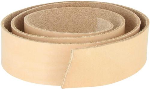 "Natural Cowhide Leather Belt Strip 100% Genuine Full Grain Leather Belt Strip (50"" end to end)"